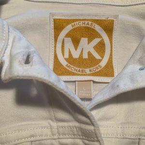 White Michael Kors Jean Jacket